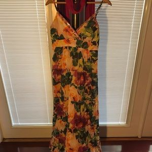 Flowing Floral Print Candie's Summer Maxi Dress